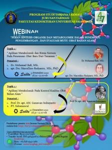 WebinarPeran Sintesis Organik Dan Metabolomik Dalam Penemuan, Pengembangan, Dan Evalusai Mutu Obat Bahan Alam (up)